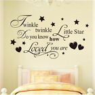 Quote Wall Sticker Nursery Kids DIY Wall Art Vinyl Decal Home Decor Removable
