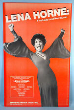 Lena Horne The Lady & Her Music Live Broadway Theatre Poster 1981 Stormy Weather