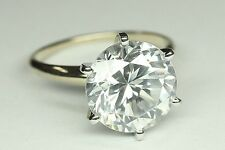 """""""Rostar"""" ROUND SOLITAIRE ENGAGEMENT RING  5 CARAT  SET IN 14K SOLID WHITE GOLD"""