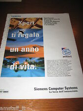 *AI20=SIEMENS COMPUTER SYSTEMS=PUBBLICITA'=ADVERTISING=WERBUNG=COUPURE=