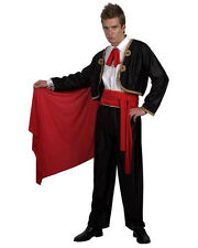 MENS MATADOR BULL FIGHTER MAN SPANISH FANCY DRESS COSTUME OUTFIT & RED CAPE NEW