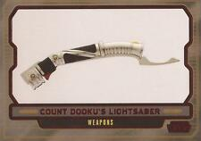 "Star Wars Galactic Files 2 - #608 Red Parallel Card ""Dooku's Lightsaber"" #17/35"