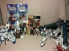 Star Wars Hasbro 30 Figure Lot Tiger Shark Republic Gunship Blue Clone Wars
