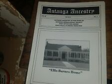 "Autauga Ancestry Fall 2010 Vol. 20 No. 1 ""Ellis-Barnes Home"""