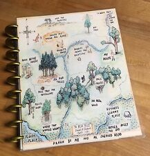 Winnie the Pooh Wood Map Cover Set for use with Happy Planner