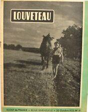 Louveteau n°14 - 1953 - Scout de France - Le Rat Musqué - Mat de Meute -