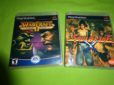 Empty Cases - Soulblade WarCraft II: The Dark Saga Sony PlayStation PS1 PS2 PS3