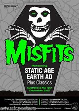 "MISFITS ""STATIC AGE/EARTH AD AUSTRALIAN & NEW ZEALAND TOUR 2015"" CONCERT POSTER"