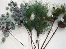 Christmas picks 7 pc Pine bulk wholesale lot floral Crafts FLOWERS Ret. $43.99