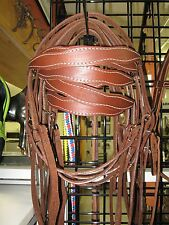 New horse tack scalloped headstall trail barrel roping western bridle