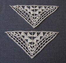 2 ANTIQUE CYPRUS LACE APPLIQUES FOR DOLLS OR CRAFTS  UNUSED  #5521