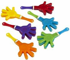 12 pc Mini Hand Clappers Assorted Goody Pinata Party Bag Filler Favour Gift