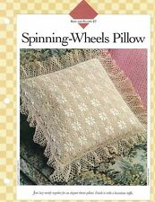 Lacy SPINNING WHEELS PILLOW Crochet Single Pattern Vanna White