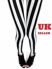 Black White Stripes in 3 Patterns Leggings