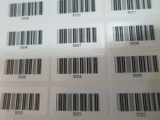 280  Personalized Waterproof Name Bar Code Stickers Labels Customize QR Code Whi