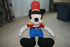 Disney Store Mickey Mouse Band Leader Marching Band Stuffed Plush Nutcracker 30""