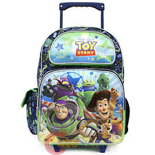 "Disney Toy Story School Roller Backpack 16"" Large Rolling Bag-Infinity All Over"