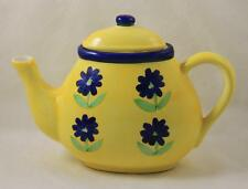 Teapot California Pantry Classic Yellow Blue Flowers 2001