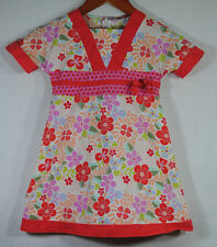 Gymboree Vintage Tea Garden Size 4 Girls Dress Pink Coral Floral Asian Style
