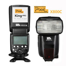 Pixel X800C PRO KING WIRELESS LCD E-TTL Master Flash per CANON 7D 5D MARK II III