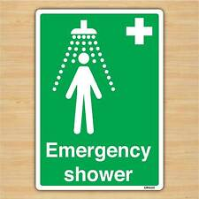 Emergency Shower Sign A5 148x210mm First Aid Safety Sticker self-adhesive vinyl