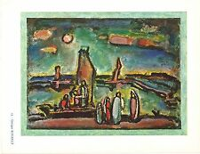 Georges Rouault, Le Christ pecheurs,Offs.Lithograph1942,Plate Nr.15.Plate-signed