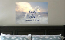 Personalized Names Date Horses Print Repositionable Wall Sticker Wall Mural