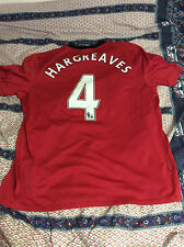HARGREAVES MANCHESTER UNITED 2009/10 PREMIER LEAGUE HOME JERSEY TRIKOT MAILLOT