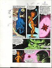 Rare original 1985 Marvel Comics Hulk color guide art page 2: Sal Buscema/1980's
