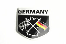 Germany Racing Flag Shield Shape Aluminum Car Body Side Sticker Emblem Badge