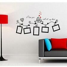 Family Picture Photo Frame Black Bird Pattern Decal Wall Sticker Ornaments Home