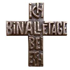 Bronzekreuz Ich bin alle Tage bei euch 12 cm * 11 cm