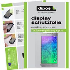 1x dipos Samsung Galaxy Alpha matte Displayschutzfolie Antireflex Testsieger