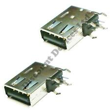 2x USB-A PCB Mounting 4 Poles Female Socket