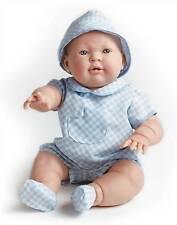 """JC Toys Lucas 18"""" in Blue Checks All Vinyl Real Boy Berenguer Doll #18902"""