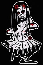 Bloody Girl Zombie Walking Dead Family Vinyl Decal Sticker