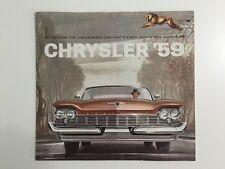 Chrysler '59 Car Brochure/Poster Dealership 1959 New Yorker Windsor Saratoga