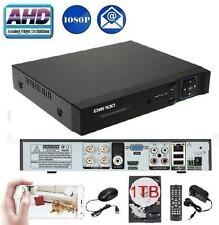Owsoo CCTV 4 Ch AHD 1080P Network Hybrid DVR for all Analog Cameras + 1TB HDD