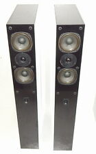 NHT VT-1.2 tower speakers with spike feet