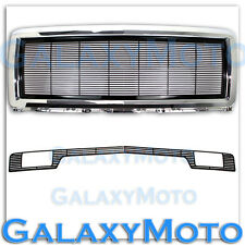 14-15 Chevy Silverado 1500 Black Billet Grille+Chrome Grille Shell+Bumper w/Tow