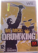 "JEU NINTENDO WII ""WE ROCK"" (DRUM KING) 505 GAMES NEUF SOUS BLISTER"