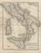 1826 ANTIQUE MAP BUTLER ANCIENT ITALIA ANTIQUA PARS MERIDIONALIS