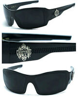 Choppers Mens Sports Bikers Motorcycle Wrap Around Sunglasses - Black C37