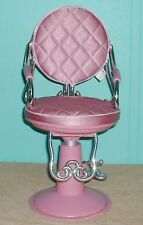 Battat Doll Beauty Shop Chair Adjustable Padded Play Fix hair teach