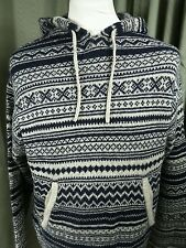 Shetland Wool Hoodie Fair Isle by Duffers Expedition  - Large EXCELLENT COND