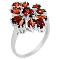 3cts Garnet 925 Sterling Silver Ring Jewelry s.6 R5145G-6
