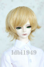 "1/4 7-8"" LUTS SD BJD DOD LUTS Dollfie Doll Wig Short Hair Blonde"