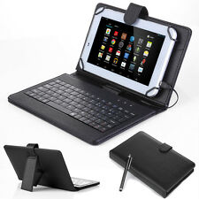 """Waterproof Leather Case Cover USB Keyboard for 7"""" inch Tablet PC Android PDA MID"""