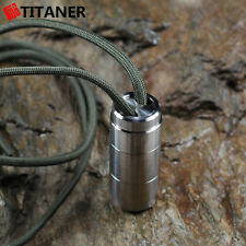 TITANER Titanium Waterproof Storage Case Survival Capsule Seal bottle Canister