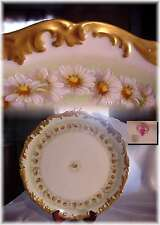 "ANTIQUE T&V LIMOGES FRANCE LARGE 13"" CHARGER PLATTER PLATE HAND PAINTED DAISIES"